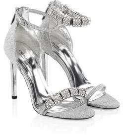 Calvin Klein Camelle Swarovski Crystal Stiletto Sandals
