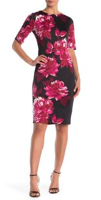 London Times Floral Half Sleeve Dress