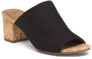 One Band Cork Sandals