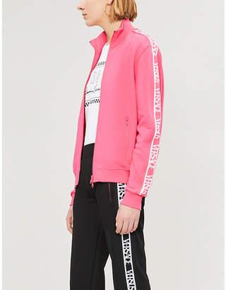 Versace Tape cotton-jersey jacket