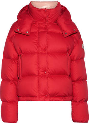 Moncler Paeonia Quilted Cotton-canvas Down Coat - Red