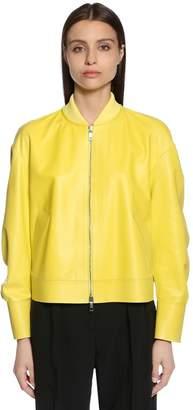 Sportmax Nappa Leather Bomber Jacket