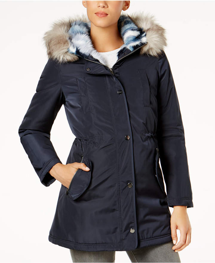Laundry by Shelli Segal Faux-Fur-Lined Coat