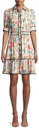 Kate Spade Blossom Fluid Shirtdress