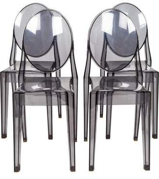 Kartell Set of 4 Victoria Ghost Side Chairs
