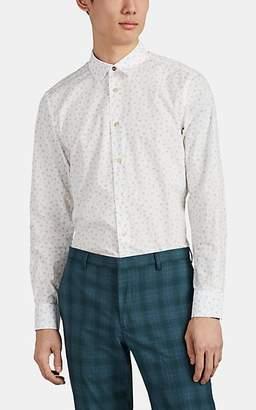 Paul Smith Men's Underwear-Print Cotton Poplin Shirt - White