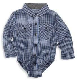 Andy & Evan Baby Boy's Check Shirt Bodysuit