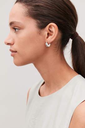 Cos SMALL SEMI-CIRCLE HOOP EARRINGS