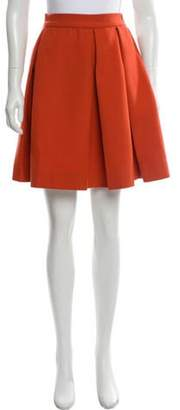 Marni Wool Knee-Length Skirt Orange Wool Knee-Length Skirt