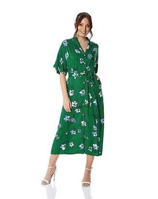 09bc44ac8d04ee Roman Originals Roman Floral Button Through Maxi Dress