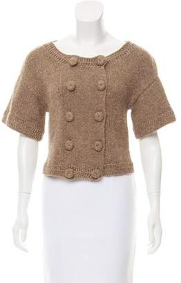 Magaschoni Double-Breasted Knit Cardigan