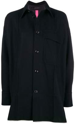 Y's layered shirt jacket