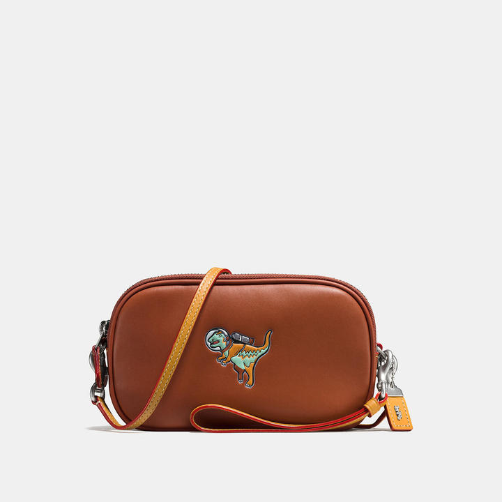 COACH Coach Crossbody Clutch In Glovetanned Leather With Embossed Space Rexy