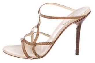 Gucci Lizard Slide Sandals