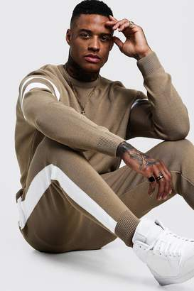 Knitted Sweater Tracksuit With Side Panel