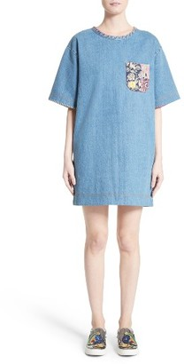 Women's Marc Jacobs Denim T-Shirt Dress $350 thestylecure.com