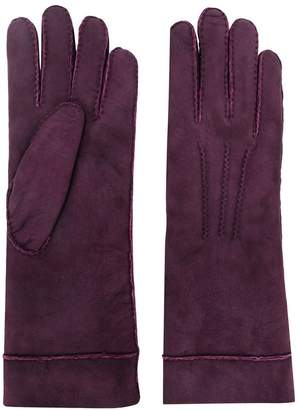 Isabel Marant embroidered lambskin gloves