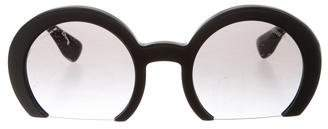 Miu Miu Semi Rimless Round Sunglasses w/ Tags