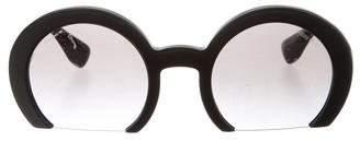 Miu Miu Semi Rimless Round Sunglasses w/ Tags