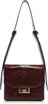 Givenchy Eden Small Croc-Embossed Leather Shoulder Bag