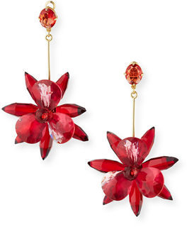 Kate Spade New York Crystal Flower Drop Earrings $128 thestylecure.com