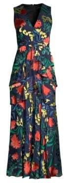 Saloni Lara Graphic Maxi Dress