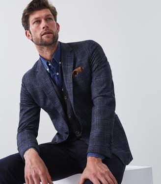 Reiss Note - Slim Fit Checked Blazer in Blue