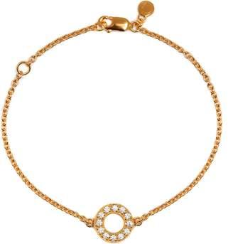 Louise Varberg Jewellery - White Sapphire Hula Bracelet Yellow Gold
