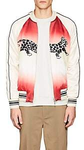 Ovadia & Sons Men's Leopard-Print Reversible Silk Souvenir Jacket-White