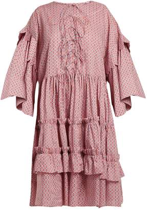 DAY Birger et Mikkelsen HORROR VACUI Geometric-print tiered-ruffle cotton dress