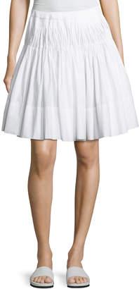 Vince Pleated Knee-Length Skirt with Braided Waist