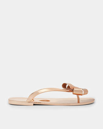 Ted Baker GLAMARI Bow detail jelly flip flop