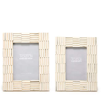 Twos Company Two's Company Two's Company Ridges Set of 2 Photo Frames Includes 2 Sizes