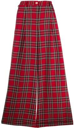 Jejia plaid wide trousers