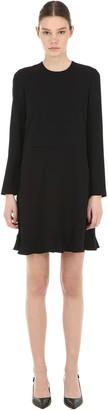 RED Valentino Viscose Crepe Mini Dress W/ Bow