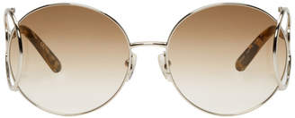 Chloé Silver Round Wire Temple Sunglasses