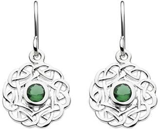 Heritage Sterling Silver and Stone Knotwork Drop Earrings