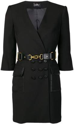 Elisabetta Franchi belted wrap style dress