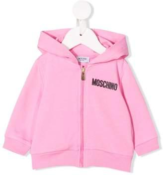Moschino Kids contrast logo bomber jacket
