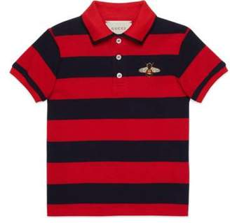 Gucci Children's striped polo with bee
