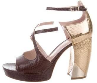 Aperlaï Nathalie Embossed Sandals