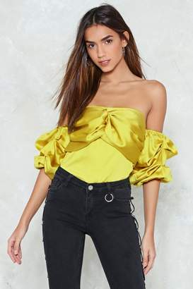 Nasty Gal Don't Ruche Me Off-the-Shoulder Top