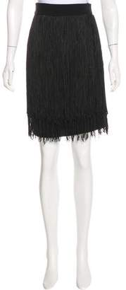 Jay Godfrey Fringed Knee-Length Skirt