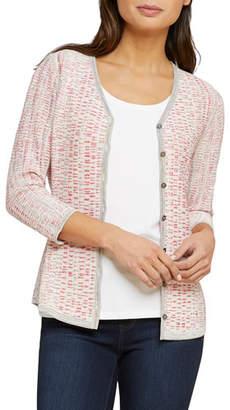 Nic+Zoe Tubular Sunset Button-Front Reversible Cardigan