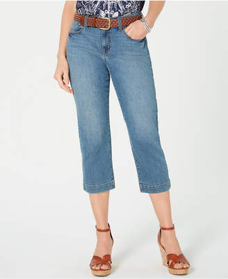 Style&Co. Style & Co Belted Denim Capri Pants