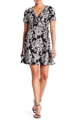 Como Vintage Faux Wrap Floral Print Dress