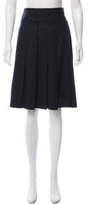 Prada Sport Pleated Knee-Length Skirt