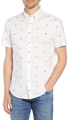 Bonobos Riviera Slim Fit Pepper Print Sport Shirt