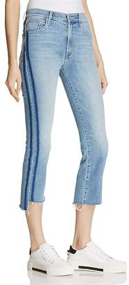 MOTHER Insider Crop Step Fray Jeans in Light Kitty - 100% Exclusive $228 thestylecure.com