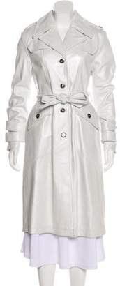 St. John Leather Trench Coat
